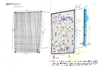 Ousama's final design for the Mosquito net door